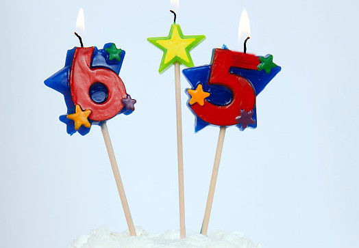 Non Toxic Red Number Cake Candles With Star For Birthday / Anniversary / Party
